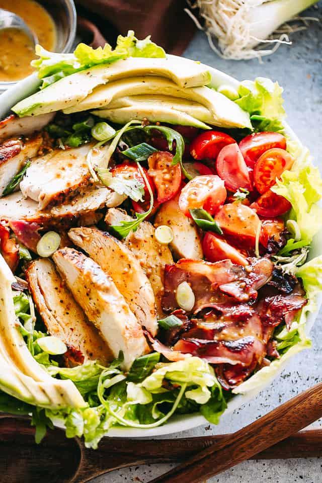 Bowl of Chicken Bacon Avocado Salad
