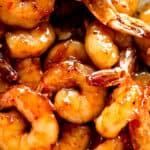 Picture of cooked honey garlic shrimp