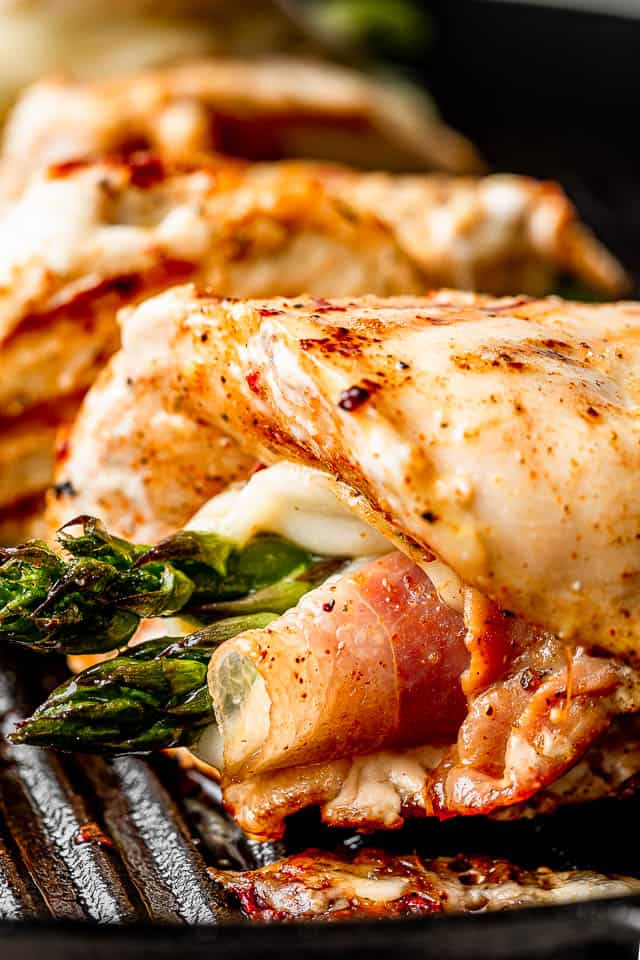 grilling Asparagus Prosciutto Chicken Roll ups