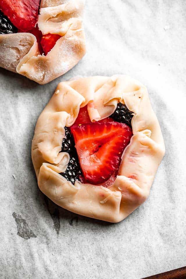 pie dough filled with berries