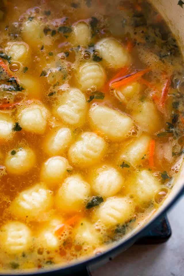 boiling gnocchi in dutch oven
