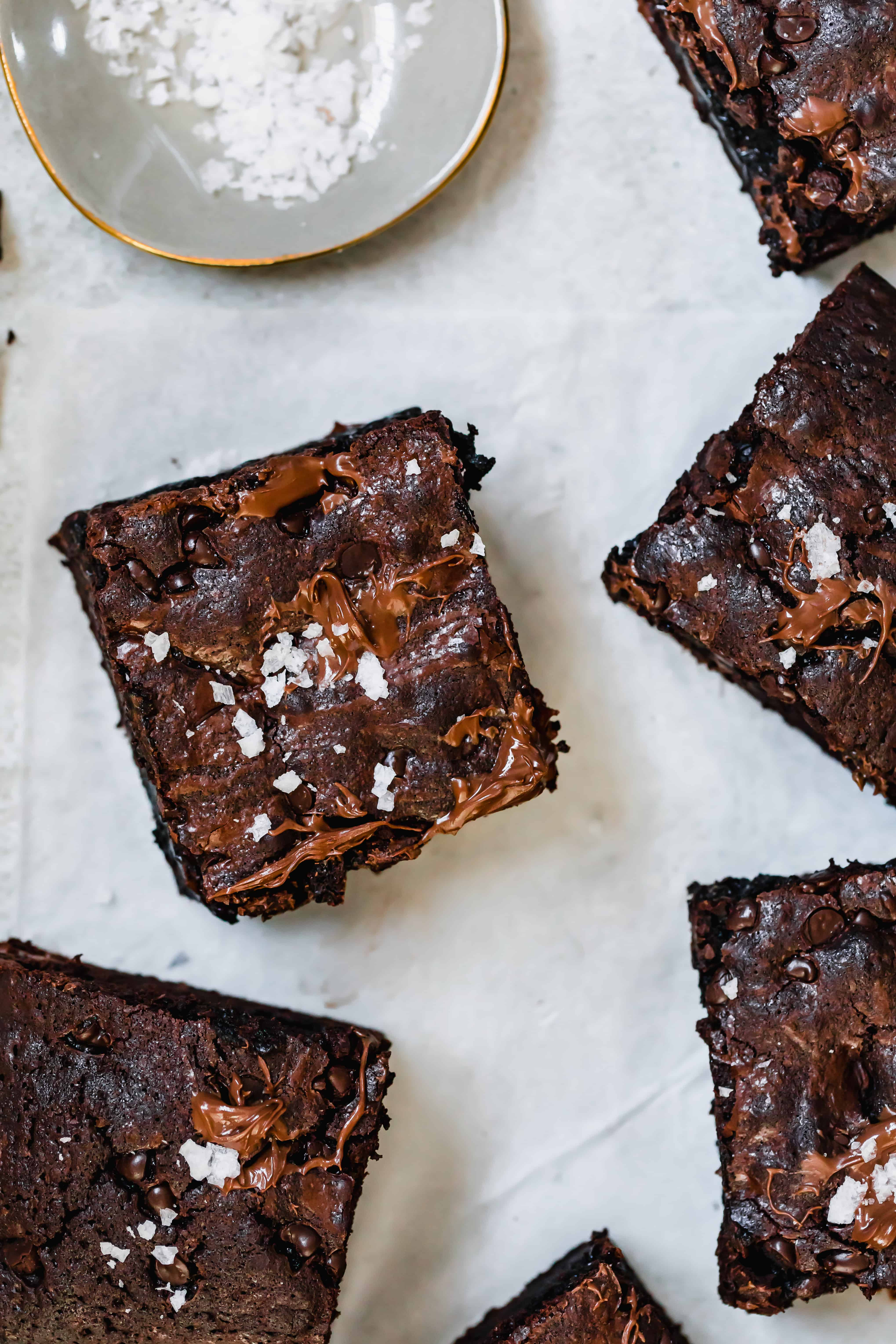 A Fudgy Brownie Topped with a Sprinkle of Coarse Sea Salt