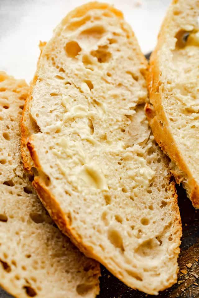 slice of fresh homemade bread