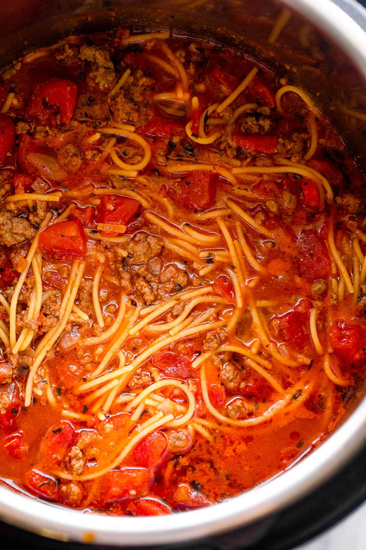 cooking spaghetti in the instant pot