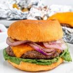 Cheeseburger in a bun